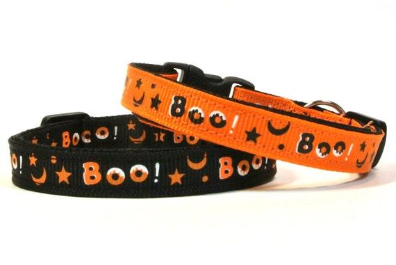 Black & Orange Halloween Breakaway Cat Collar