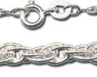Sterling Silver Chain Rope Necklace