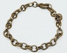 Charm Bracelets Chain Bracelets Link Bracelets Antiqued Bronze Link Chains Wholesale Bracelets Wholesale Chain-50 pieces