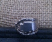 Spoon Ring Silver Plate Jewelry Antique Flatware Size 8