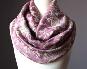 Smoky Rose Infinity Scarf ,  pashmina infinity  scarf,  blush infinity scarf, rose infinity scarf