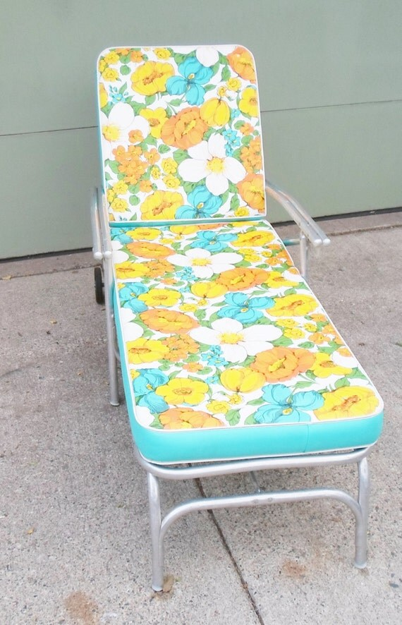 Vintage Mid Century Chaise Lounge Chair For By