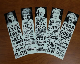 Author Bookmarks (Set of 5)