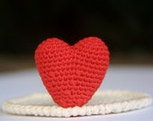 Valentine's Day, Crochet Pattern, Red Heart Coaster, PDF, Instant Download, love - SpringFresh