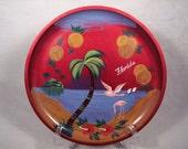 Vintage Florida Tray Toleware Souvenir Tole Ware