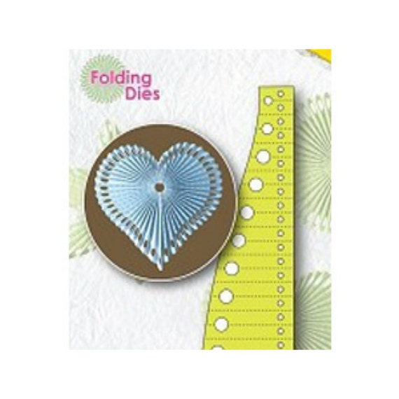 Heart Rosette Folding Die - Nellie Snellen - Paper Cutting - Cuttlebug or Big Shot Machines - Card Making - Christmas Paper Crafts - Thin
