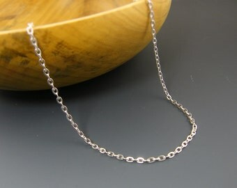 24 Inch Silver Chain 24 Inch Silver Necklace Chain Medium Link Bright Silver Plated Oval Chain  CH2-Med-BS24