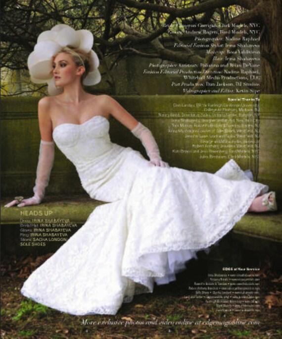 French Lace Mermaid Wedding Dress: Items Similar To Irina Shabayeva Beaded French Lace
