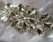 Sparkle Cessar Victorian wedding bridal rhinestone crystals and dress buckle belt sash