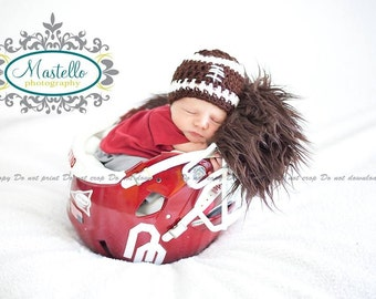 Football Beanie, Baby Football Hat, Baby Boy Beanie
