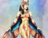 Isis 8.5 x 11 fine art print. Egyptian Mythology.