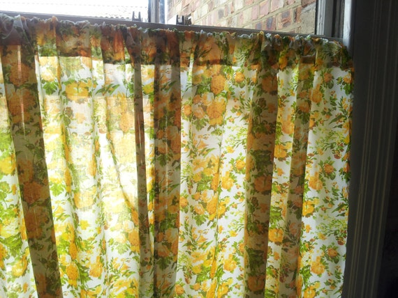 Shabby Chic Curtains Window Curtains Floral Curtains