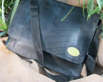 Reclaimed Inner-tubes Handbag: Revved Up Tire Messenger Bag
