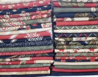 3 Sisters for Moda Fabrics Wintergreen Collection One 40 Piece Fat Quarter Yard Bundle