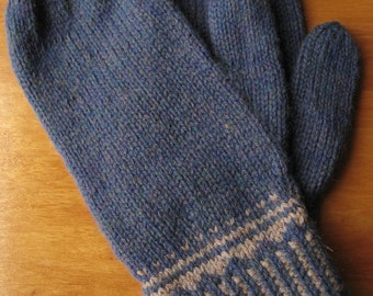 Blue and Gray Mittens