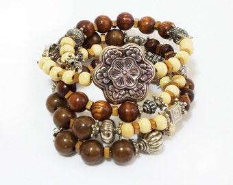 BIG SALE, Boho Bracelet, Bohemian Jewelry, Stacked Bracelets, Cool girl, Layered Bracelet, Gypsy, Charm Beaded, Layered Bracelet, Artisan