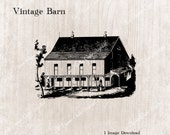 VINTAGE BARN Rustic Farm Building Digital Clipart Image Download  -Transparent & Resizable PNG (300 dpi) Commercial Use