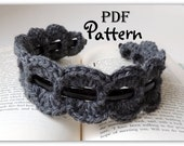 PDF CROCHET PATTERN, Crochet Trim for Headband, Many Photos, Crochet Trends, Chic,  Boho, Instant Digital Download, Pattern Only