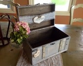 Rustic Wedding Card Box,Burlap Banner, Burlap Wedding.