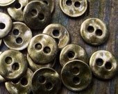 Round Pewter Buttons for wrap bracelets, antique brass button closures, Buttons for bracelets, leather wrap buttons