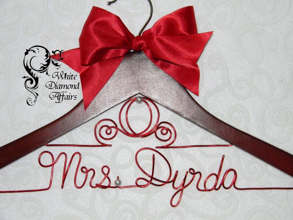 Cinderella fairytale coach themed wedding dress hanger for Wedding dress hanger name
