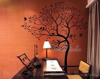Wall Stickers Tree Wall Decals -Living room wall decals-Lucky Tree with birds wall decal home decor