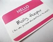 Molly Hooper Sherlock Name Tag Sticker