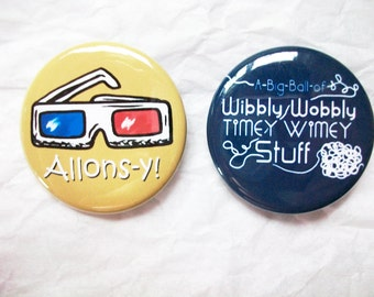 "Doctor Who ""Ten"" 1.5 Inch Button Set"
