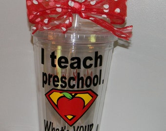 Preschool Teacher Gift - Preschool Teacher Cup - Teacher Appreciation Gift - Personalized Teacher Gifts- Preschool Cups - Preschool Mug