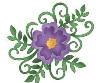 CottageCutz Flourish Layered Flower (4x6)