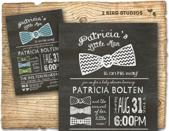 baby shower invitation bow tie little man baby shower, Baby shower invitations