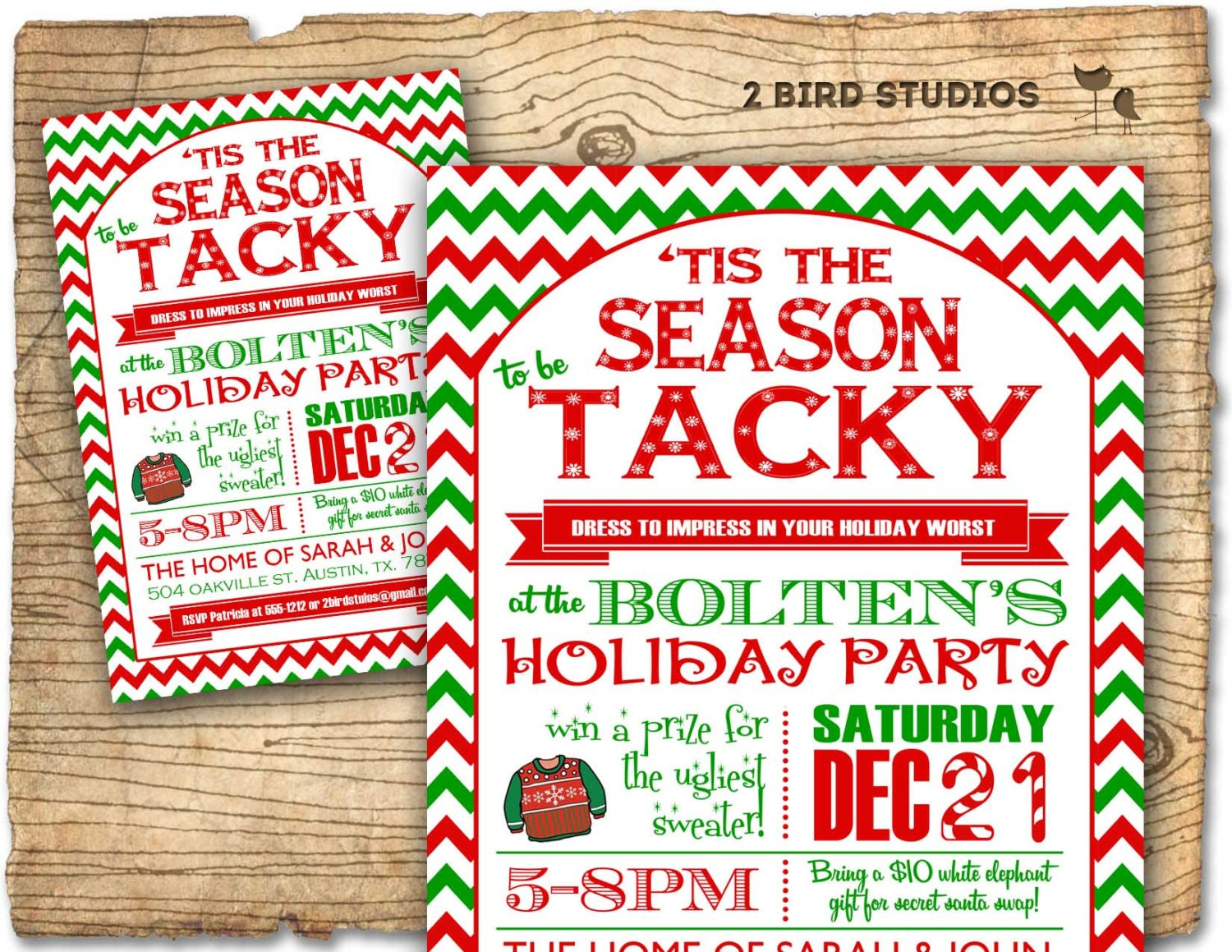 Christmas party invitation Ugly Sweater party invitation