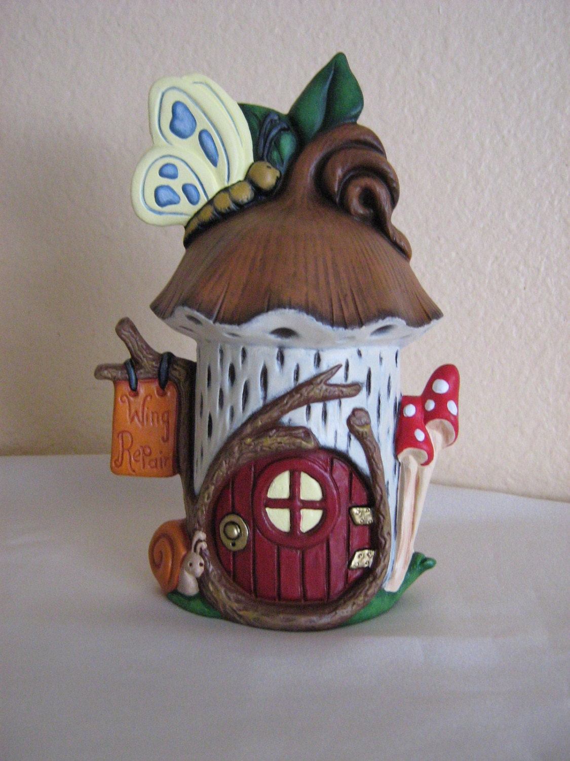 Ceramic fairy house for Ceramic house paint