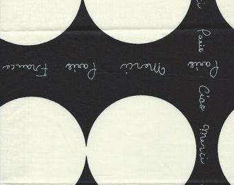 French Big Dot in Black by Suzuko Koseki for  Yuwa of Japan