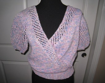 Hand Knit Sweater French Yarn