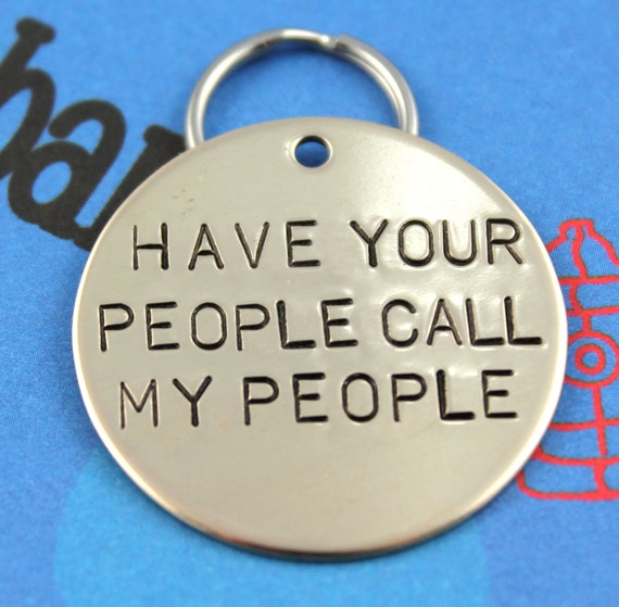 LARGE Dog Tag Personalized Hand-Stamped Pet Tag By