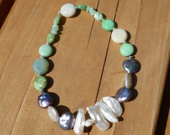 All Natural gemstone stretch anklet
