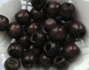 Wooden Beads Brown Round 11mm (20 pcs)