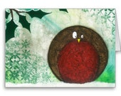 25 Round Robin Christmas Cards - Art Print - Holidays, Winter, Christmas