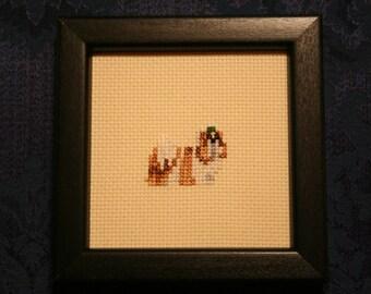 Shih Tzu Cross Stitched Full Body Dog.