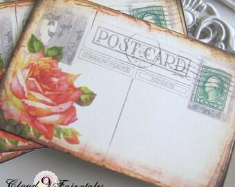 Vintage Wedding Escort Cards - Vintage postcard Place Cards Placecards wedding - set of 100 - GARDEN Rustic Vintage weddding
