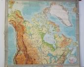 Vintage Belgian School Map of Canada