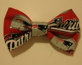 Large New England Patriots Fabric Hair Bow