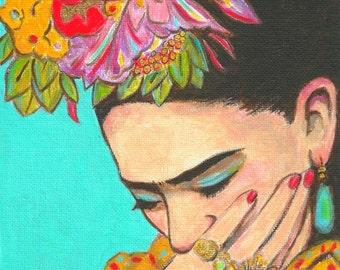 30% Off Frida Kahlo Print Canvas Free Shipping Mexican Folk Art Poster Painting Decor Hispanic Wall art
