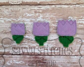 Chunky Tulip Feltie Machine Embroidery Design