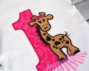 Giraffe Birthday Shirt