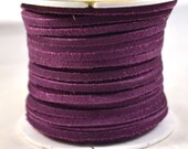 Purple Leather Suede Lace, Sold by the Foot, Discontinued Destash, Genuine Suede Lacing for Bookbinding, Crafts, Leather Jewelry Supply
