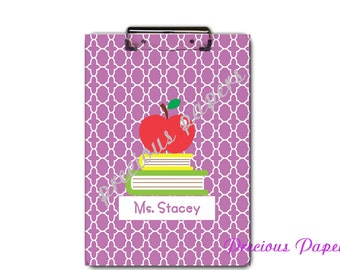Personalized teacher clipboard teacher gifts purple moroccan clipboard personalized clipboards