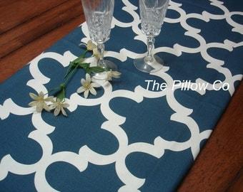 Blue  Table Runner Party Table Runner Blue Wedding Runner Home Decor  Premier Prints Home Decor Navy  Moroccan Tile