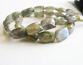 Labradorite Nuggets, Rectangle Beads, Briolettes, aaagems, Half Strand, 7-10mm, 14 Briolettes